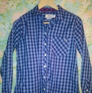 Vineyard Vines Plaid Button Up With Cashmere